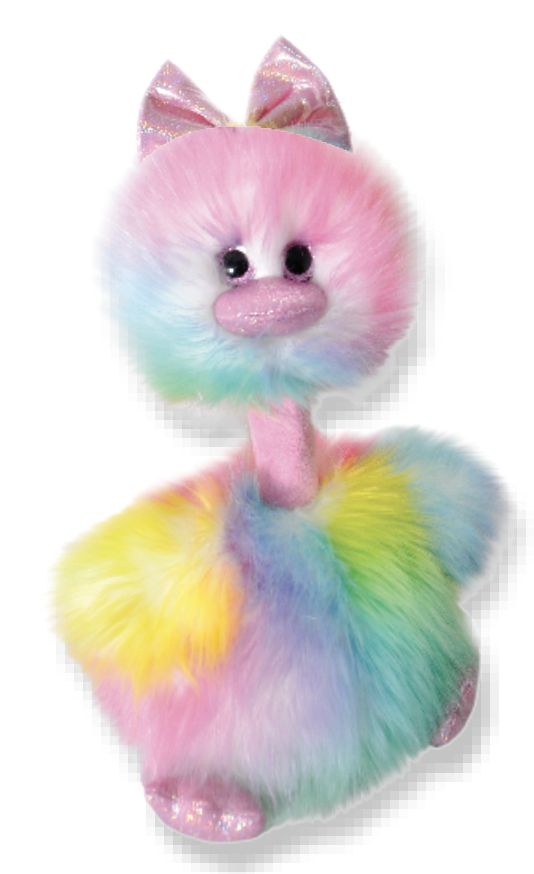 "The Petting Zoo: 12"" Tutti Frutti Bird Pink"